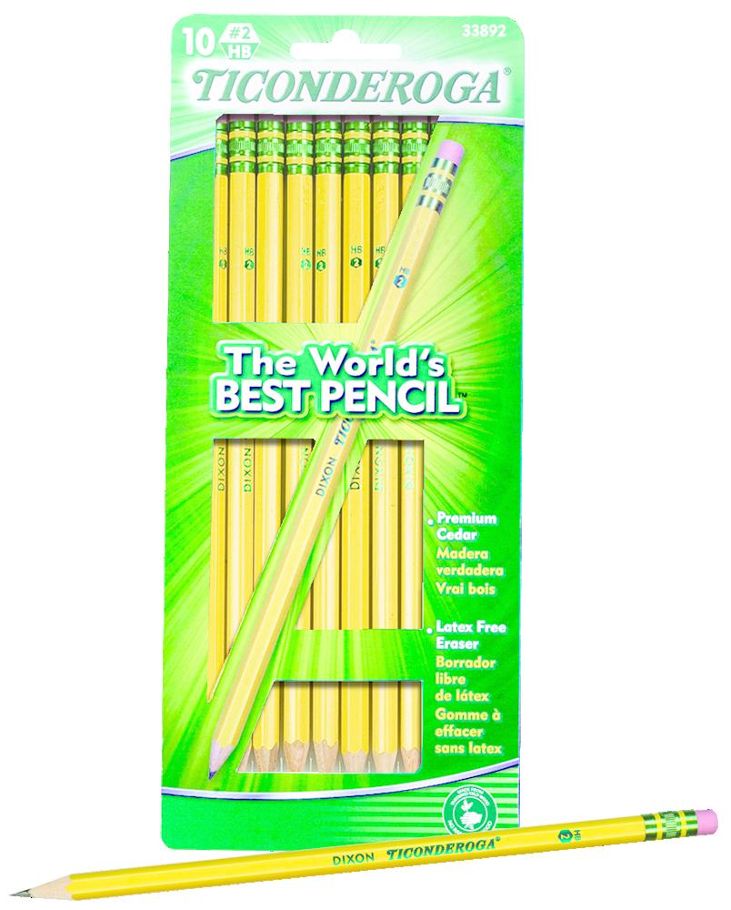 Ticonderoga Woodcase Pencil - Yellow #2 10Pk BP