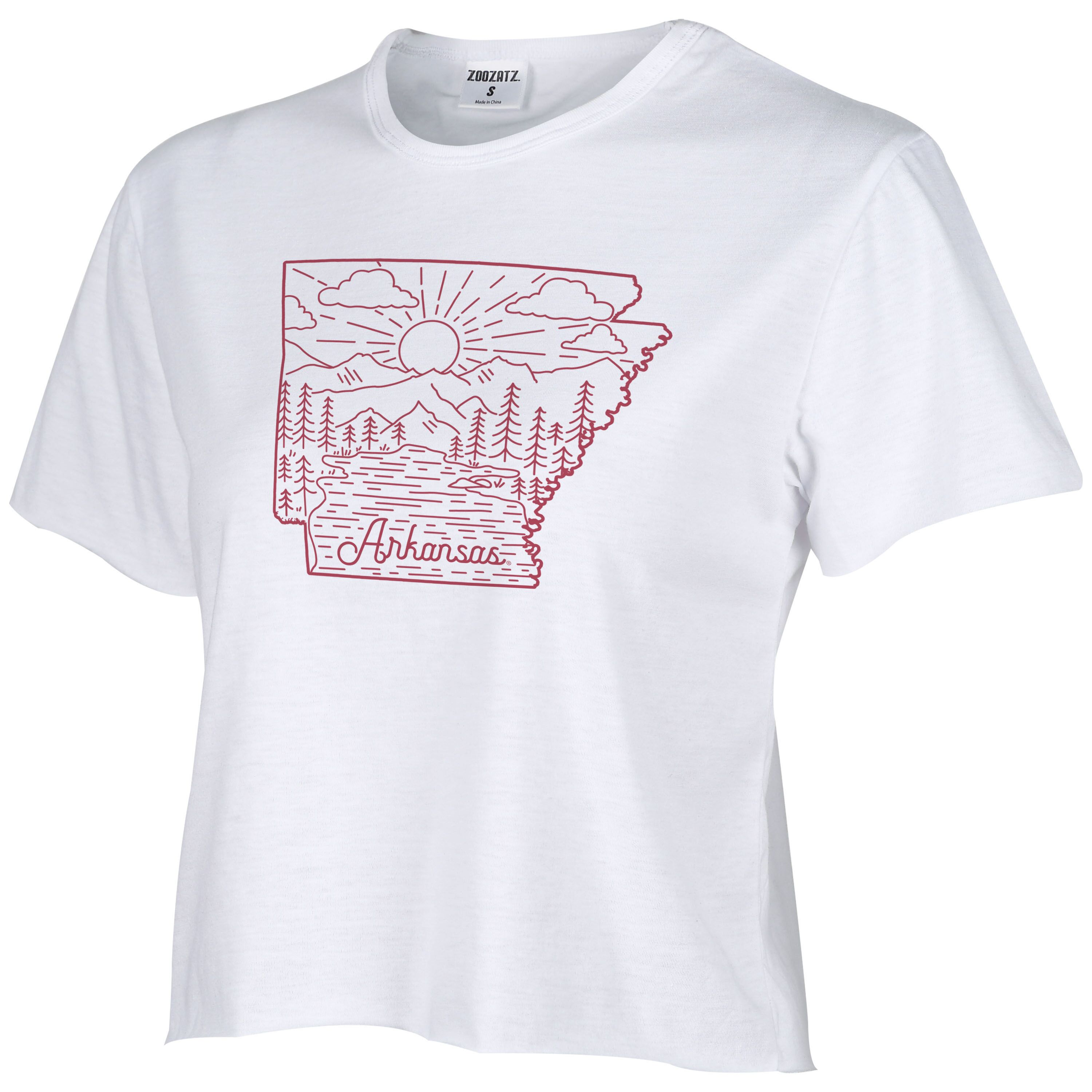 W Humble Crop Tee State Outline