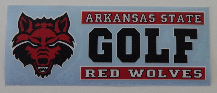 Red Wolves Golf Auto Decal