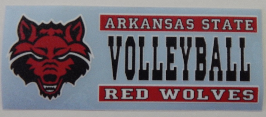 Red Wolves Volleyball Auto Decal