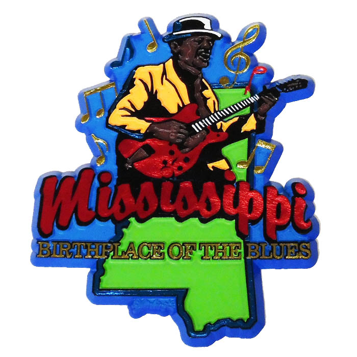 Mississippi Blues 2D Magnet