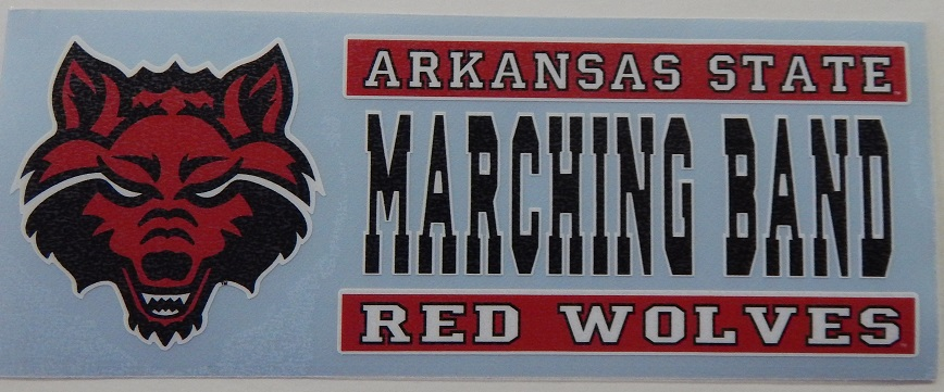 Red Wolves Marching Band Auto Decal