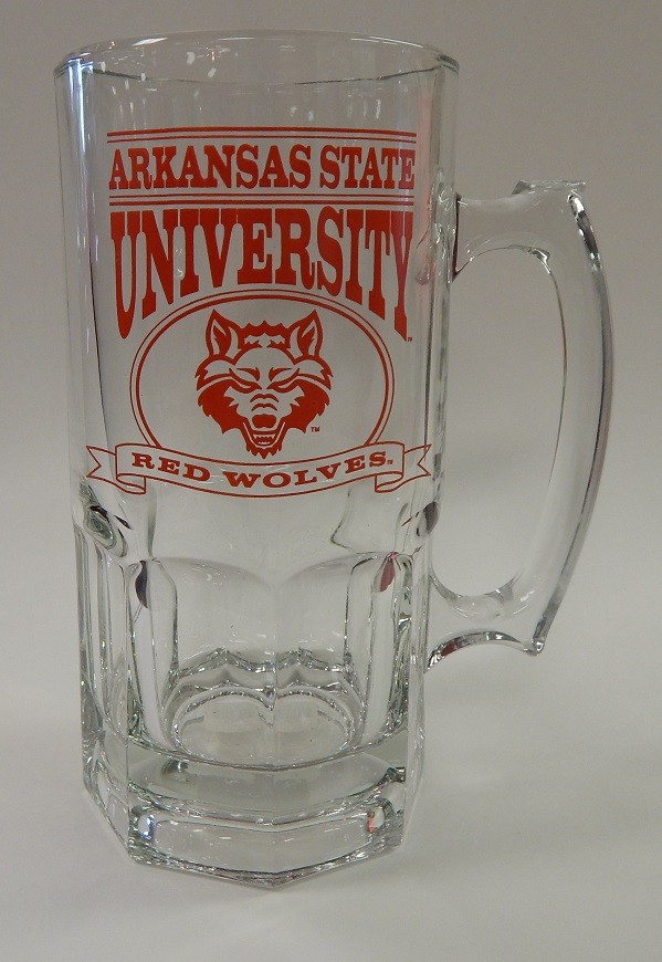 Red Wolves Glass Sports Mug