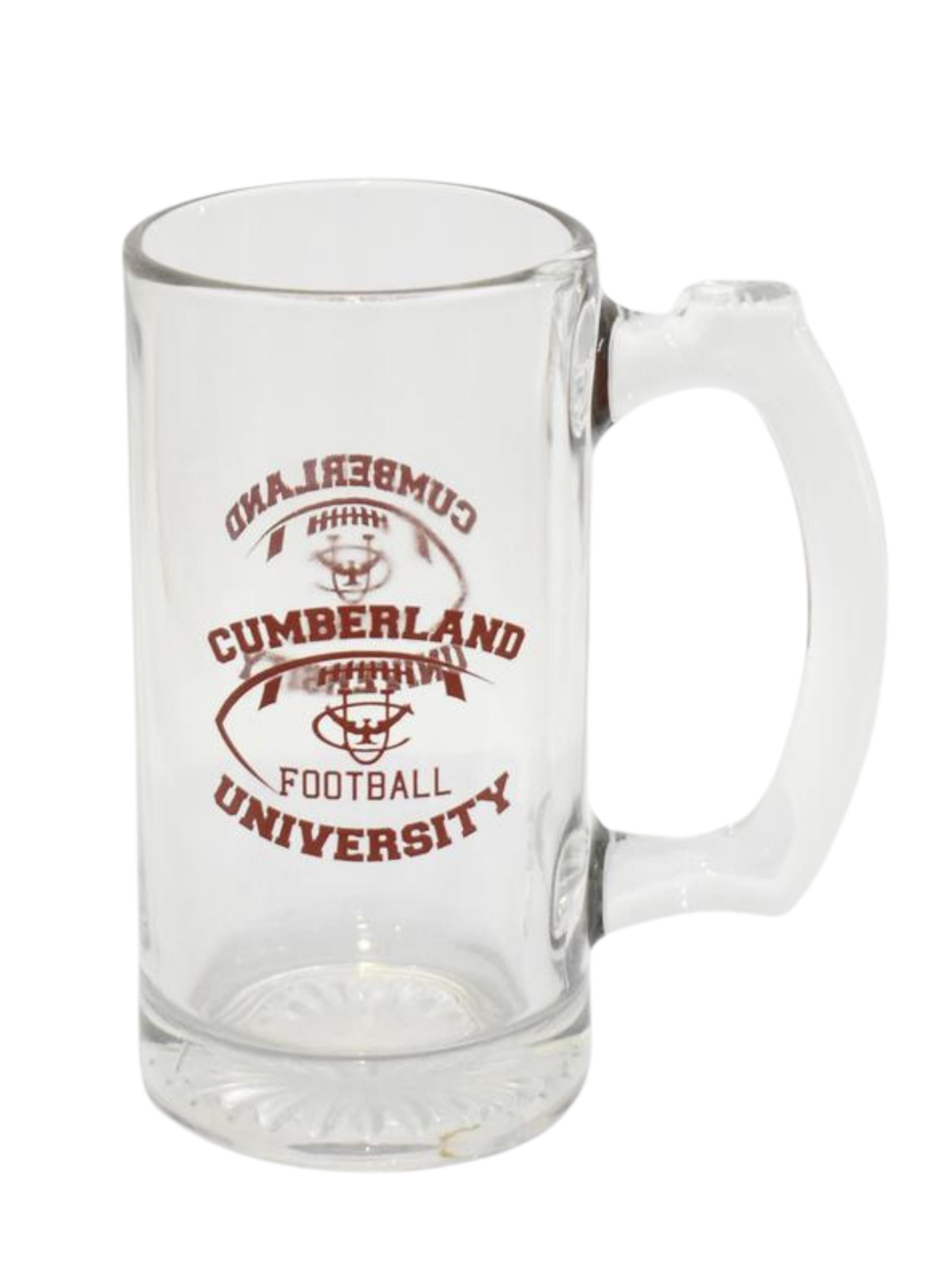 Cumberland University Football 12 oz. Glass Mug