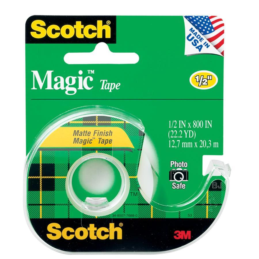 Scotch Magic Tape - Clear .5x800in 1Pk BP