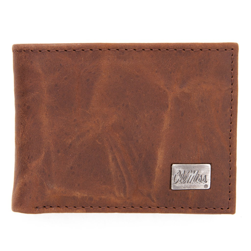 Ole Miss Genuine Leather Bi-Fold Wallet
