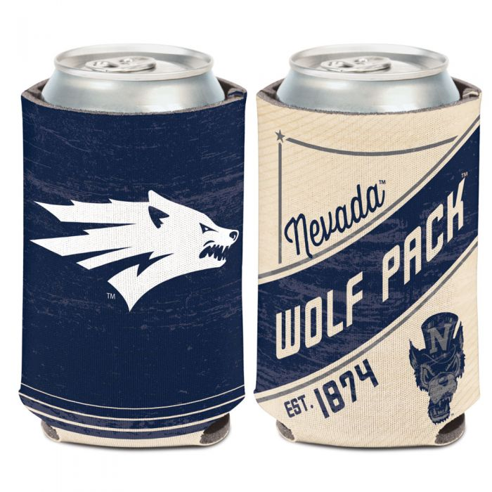 Tan and Blue Nevada Wolf Pack Can Cooler