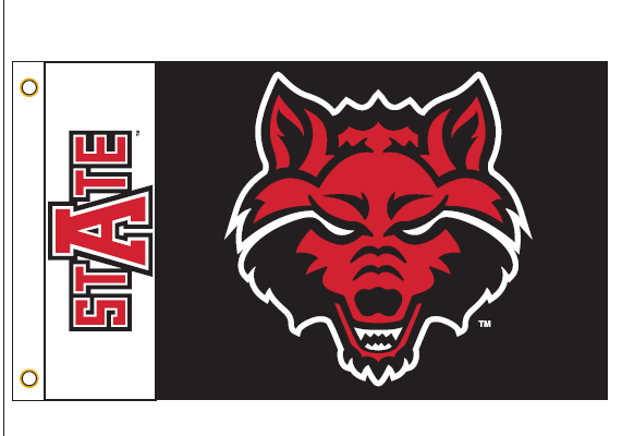 Arkansas State Red Wolves Outdoor Flag 4x6