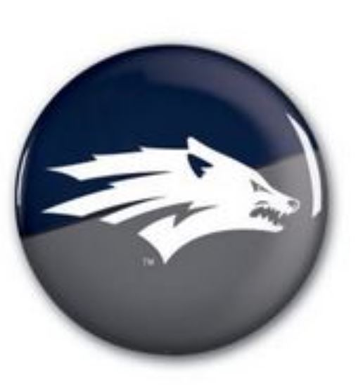 Nevada Wolf Button Navy/Gray