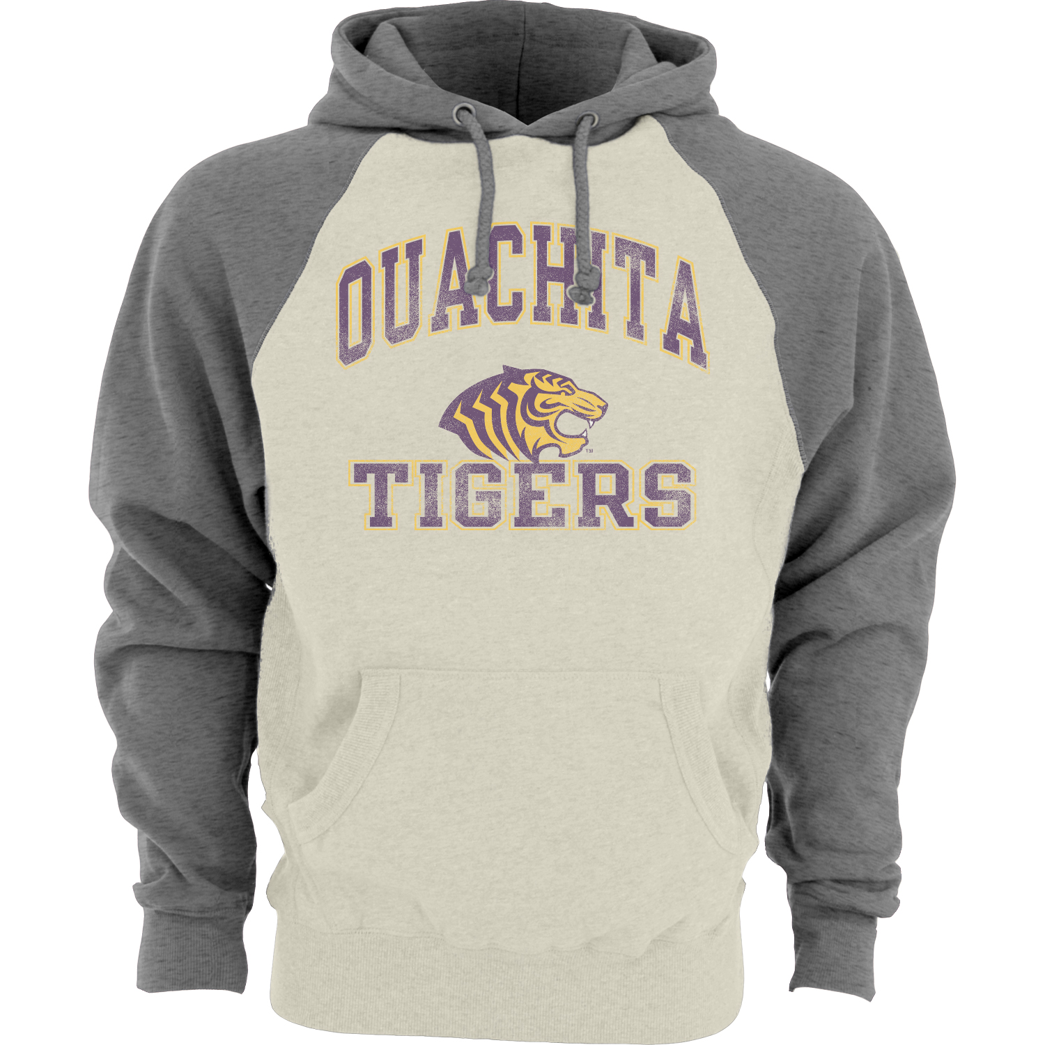 OUACHITA TIGERS CONTRAST SLEEVE HOODY