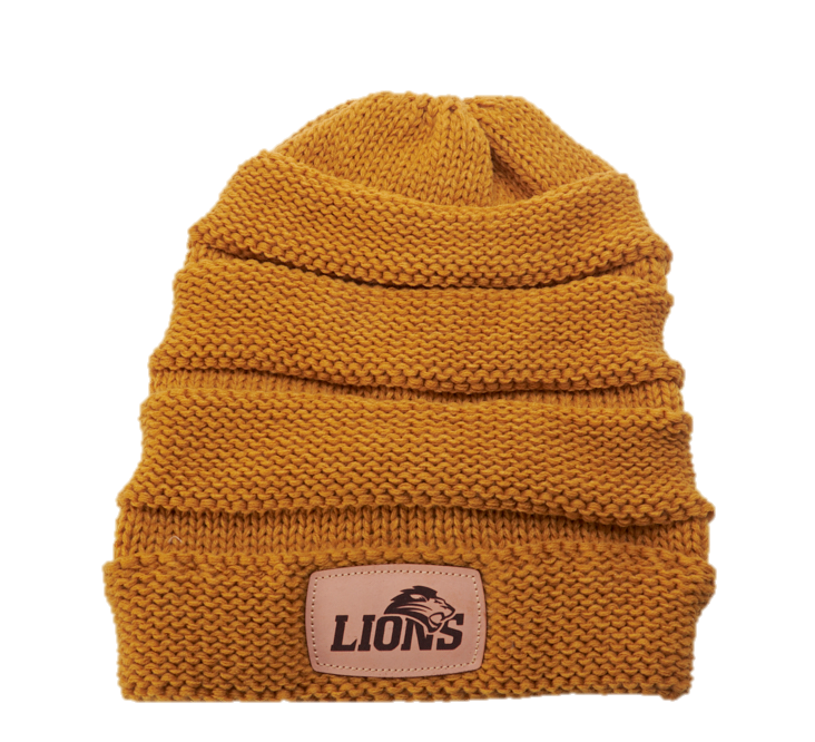 Lions Knit Scrunch Beanie