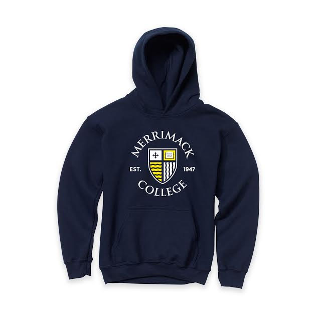 Youth Navy Shield Hood