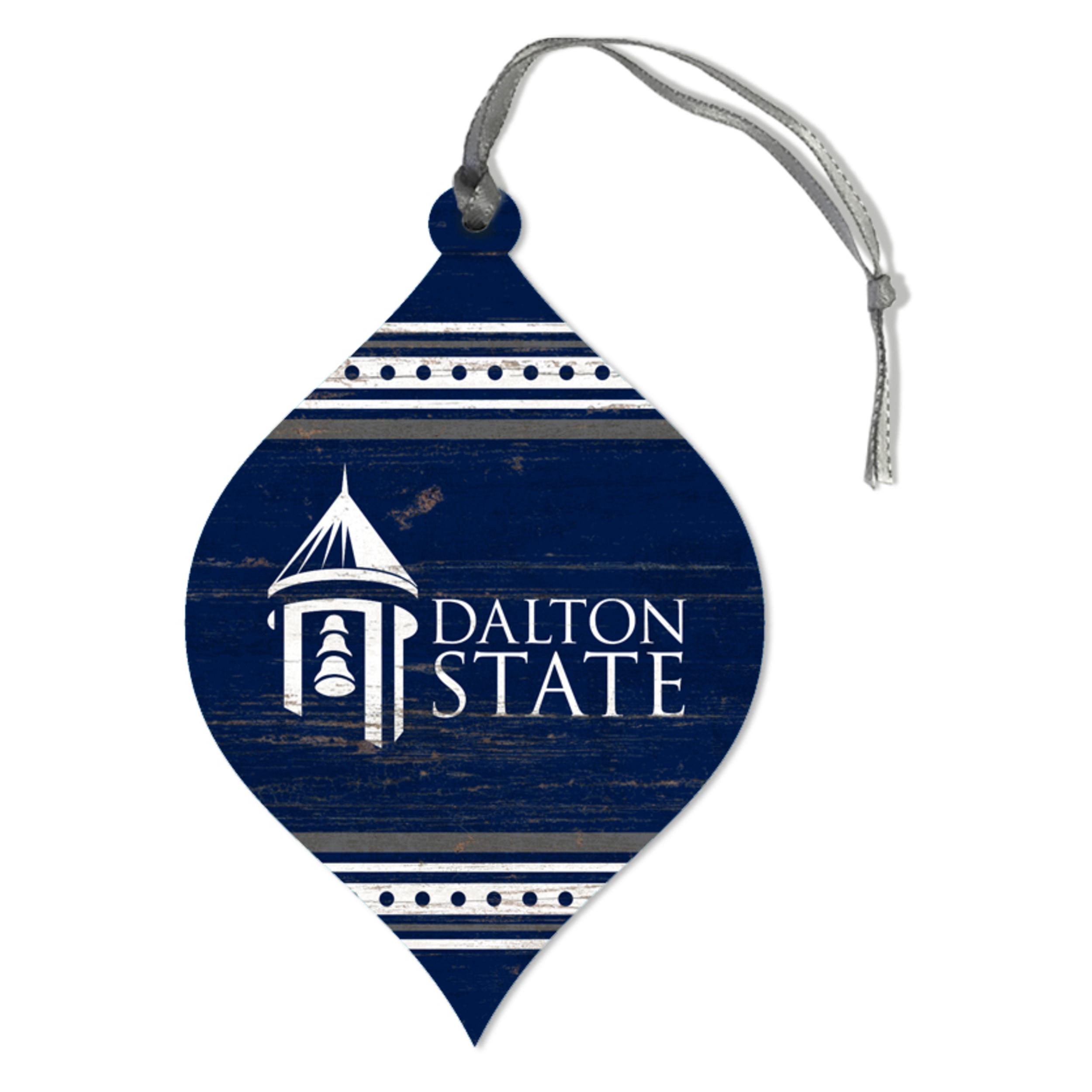Dalton State Teardrop Ornament