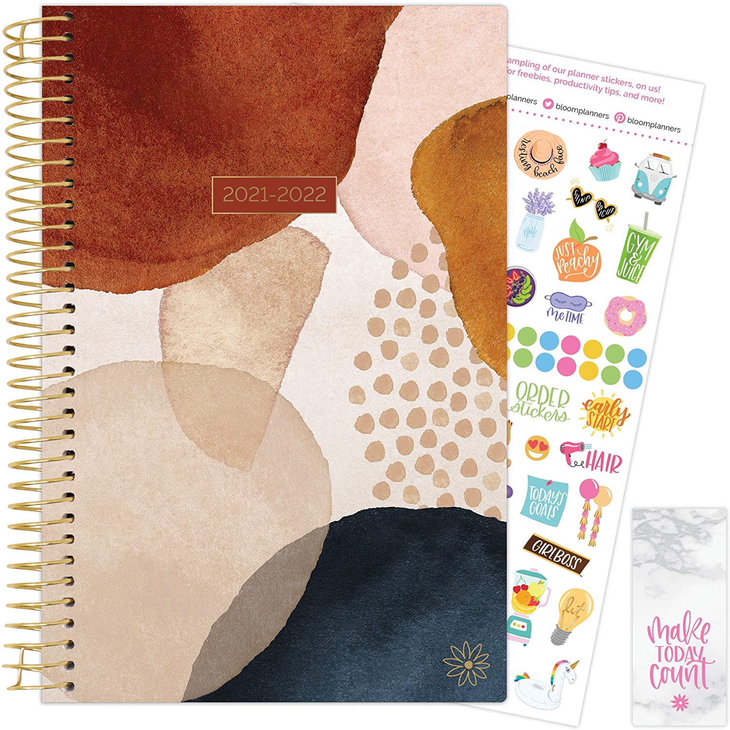Earthy Abstract 2021-22 Soft Cover Planner