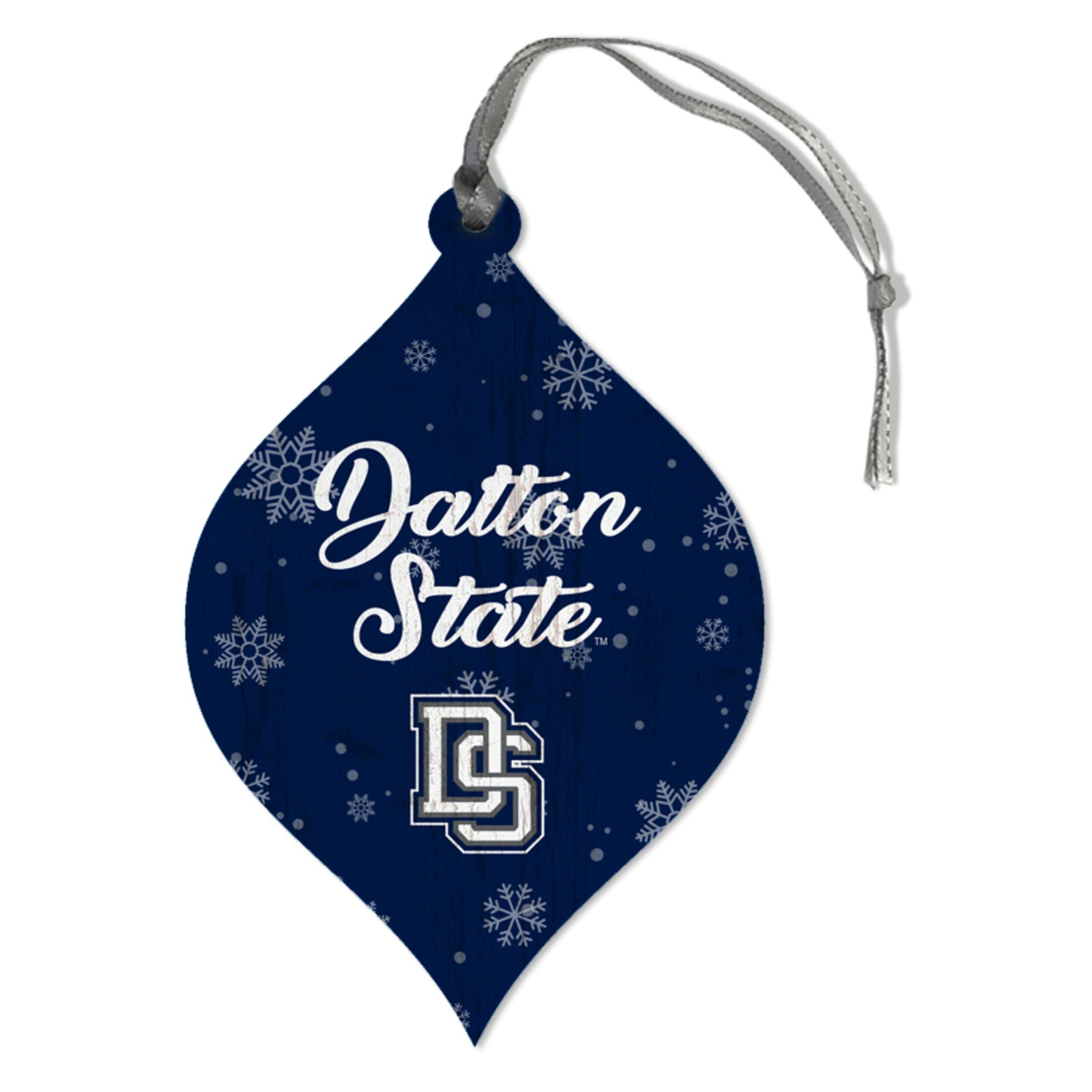 Dalton State Snowflakes Teardrop Ornament