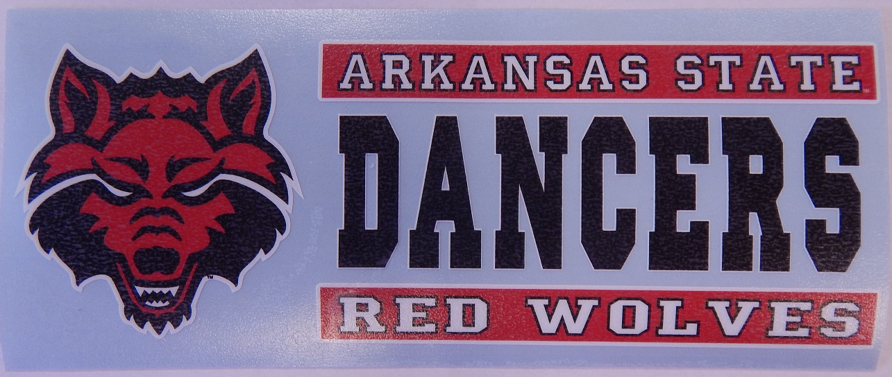 Red Wolves Dancers Auto Decal