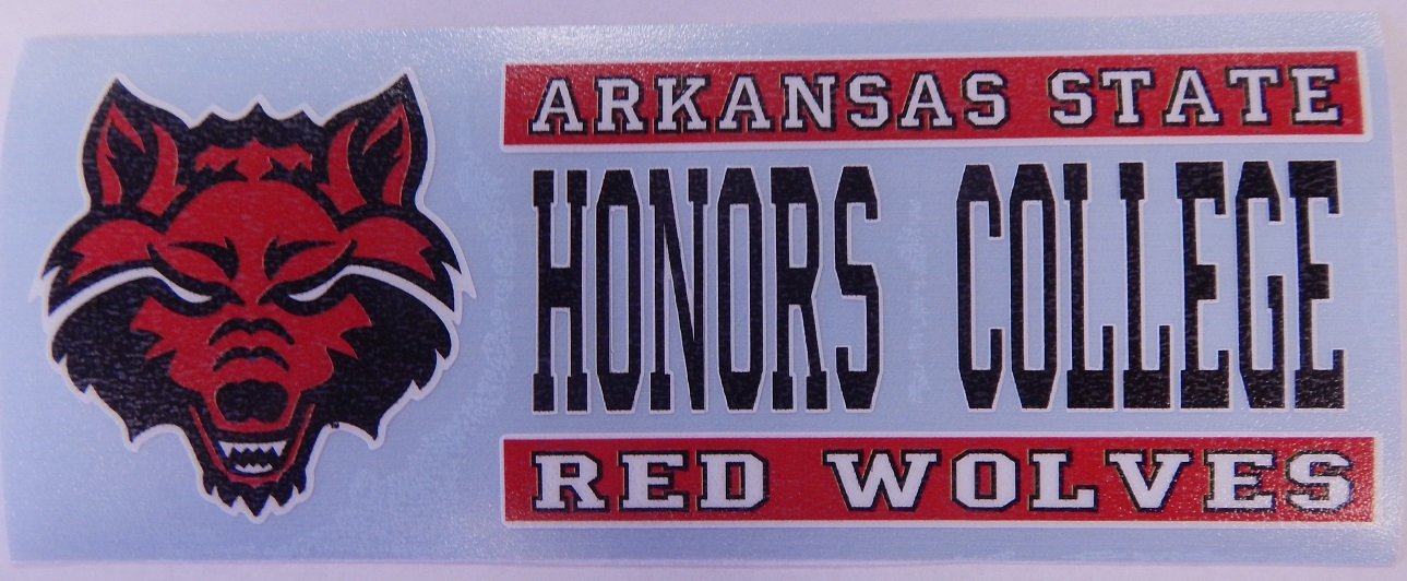 Arkansas State Honors College Auto Decal