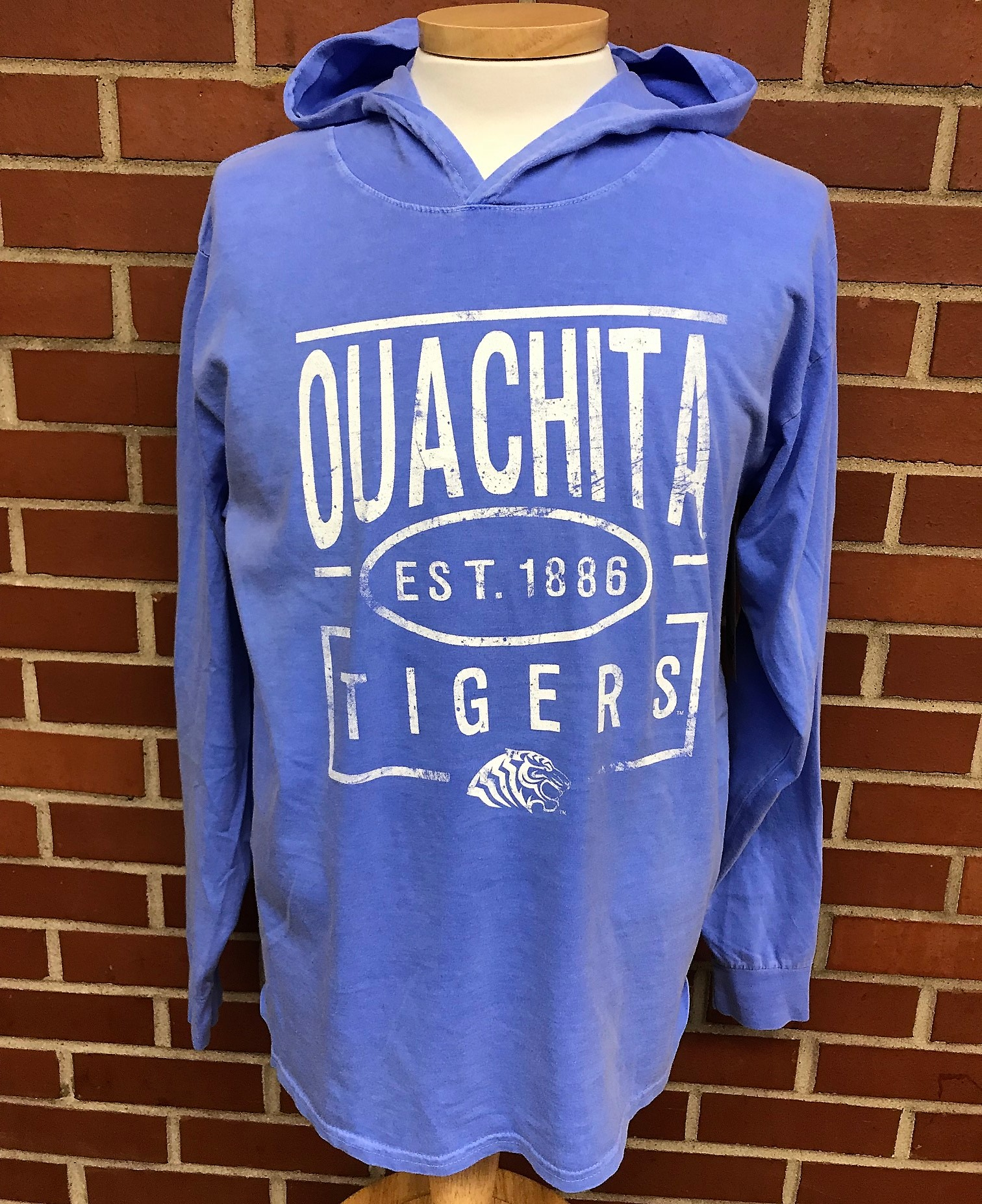 OUACHITA TIGERS LS COMFORT COLOR HOODY