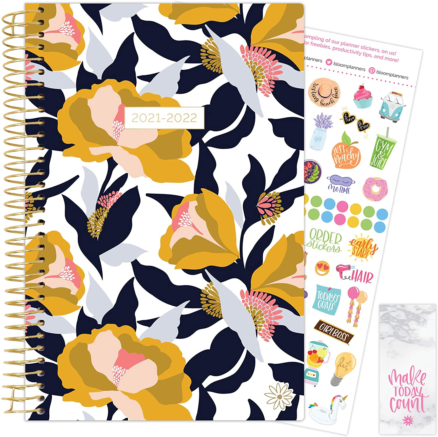 Mustard Floral 2021-22 Soft Cover Planner