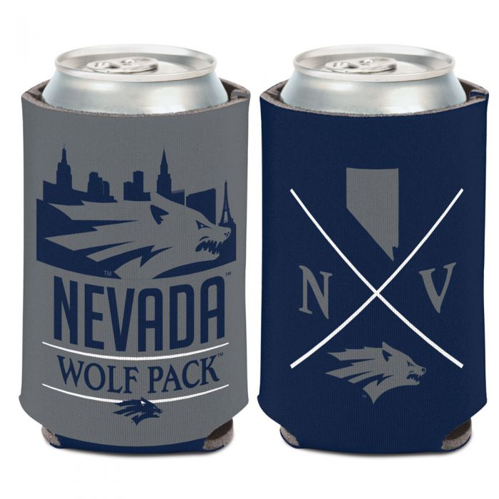 Navy and Grey Wolf Pack Can Cooler