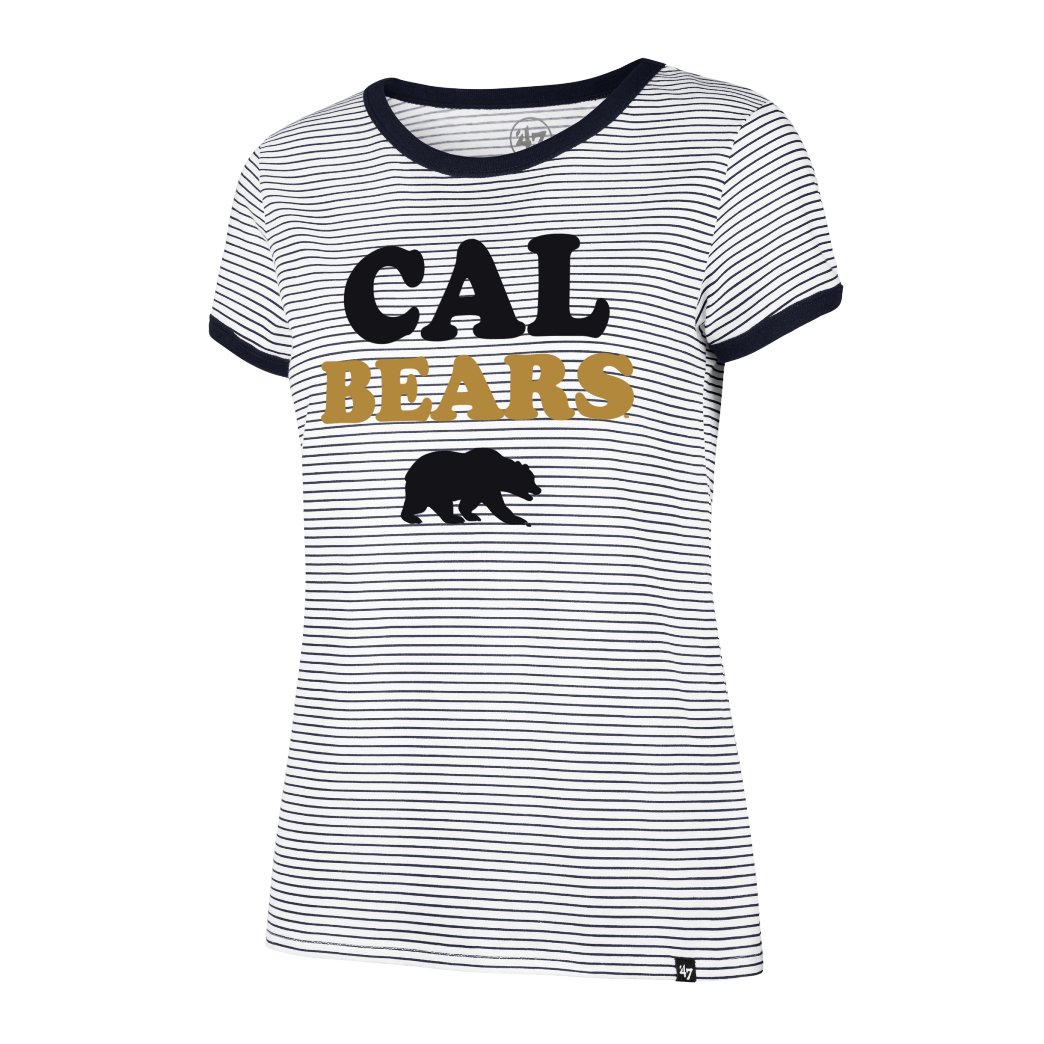 University of California Berkeley Golden Bears Prined Striped Ringer Tee Womens