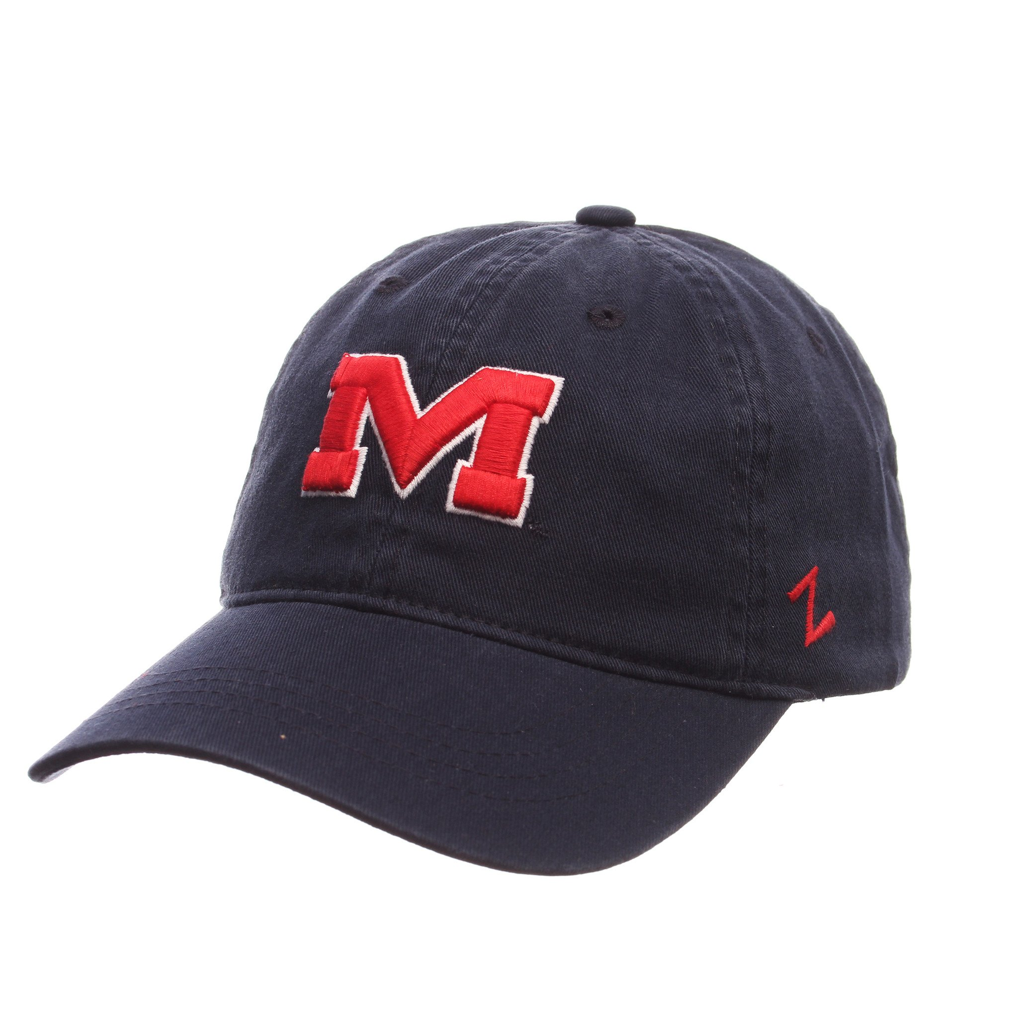 Scholarship M Hat - Navy Wash