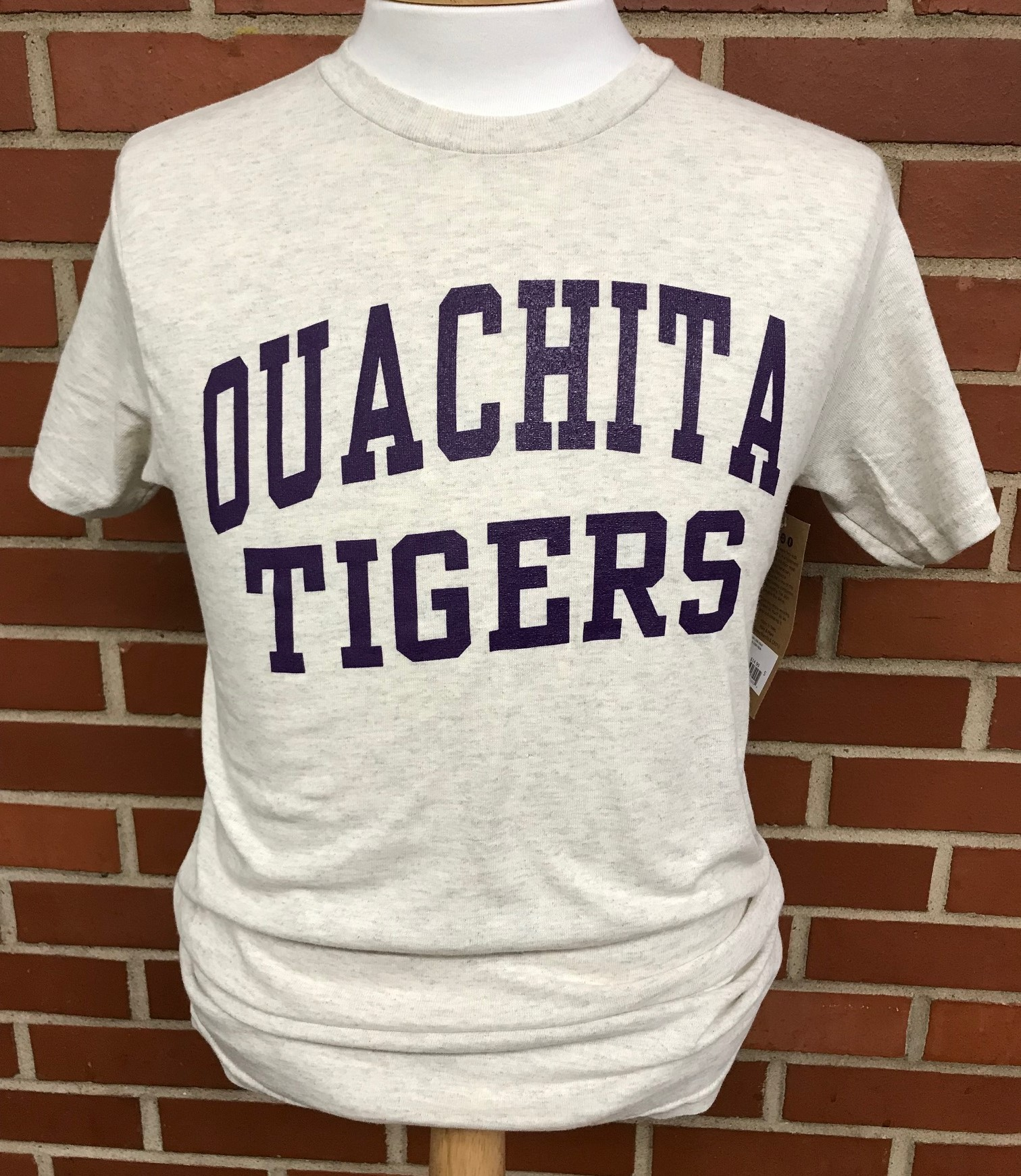 OUACHITA TIGER HEATHERED SS TEE