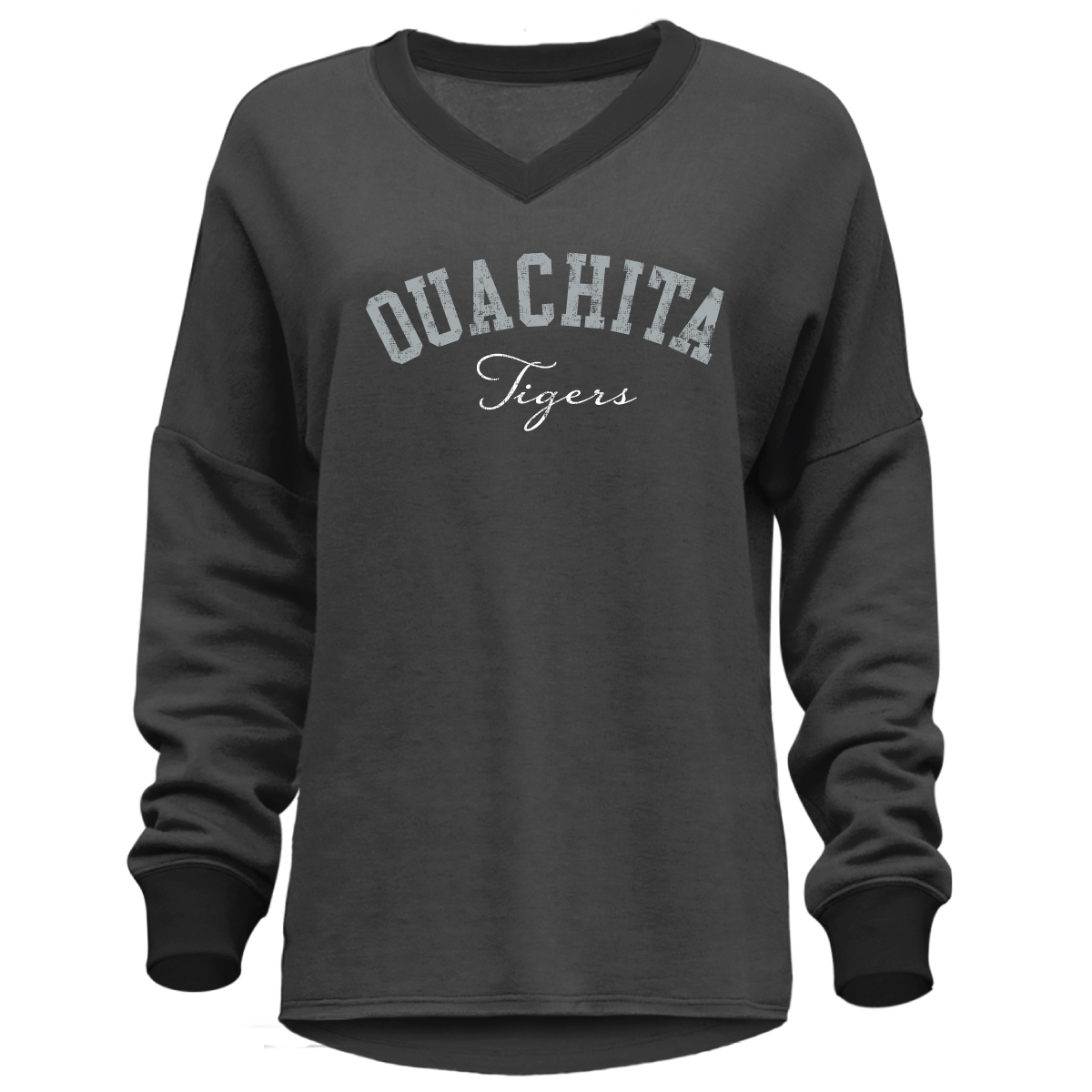 OUACHITA TIGERS DROP HEM PULLOVER