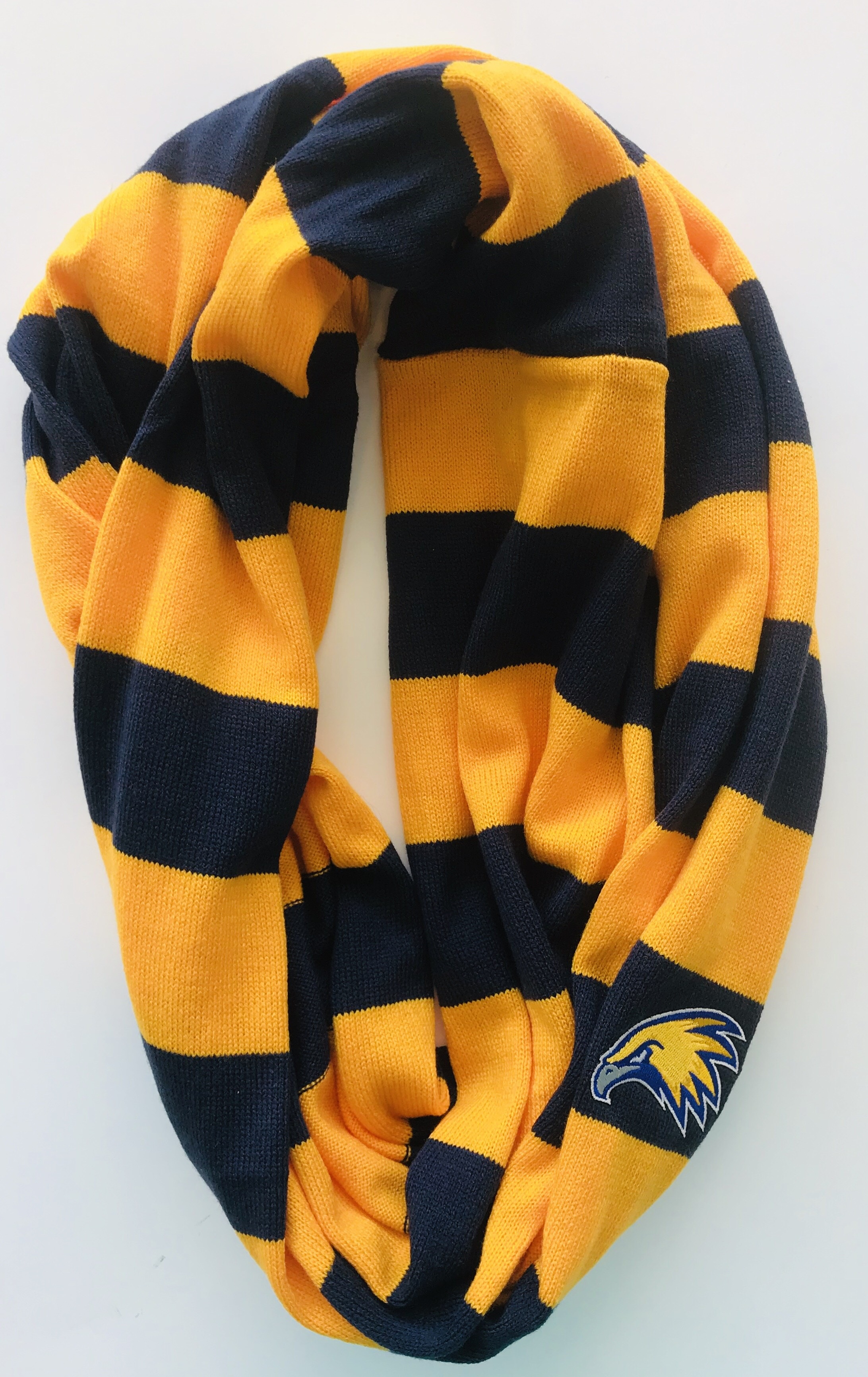 Golden Eagle Striped Infinity Scarf