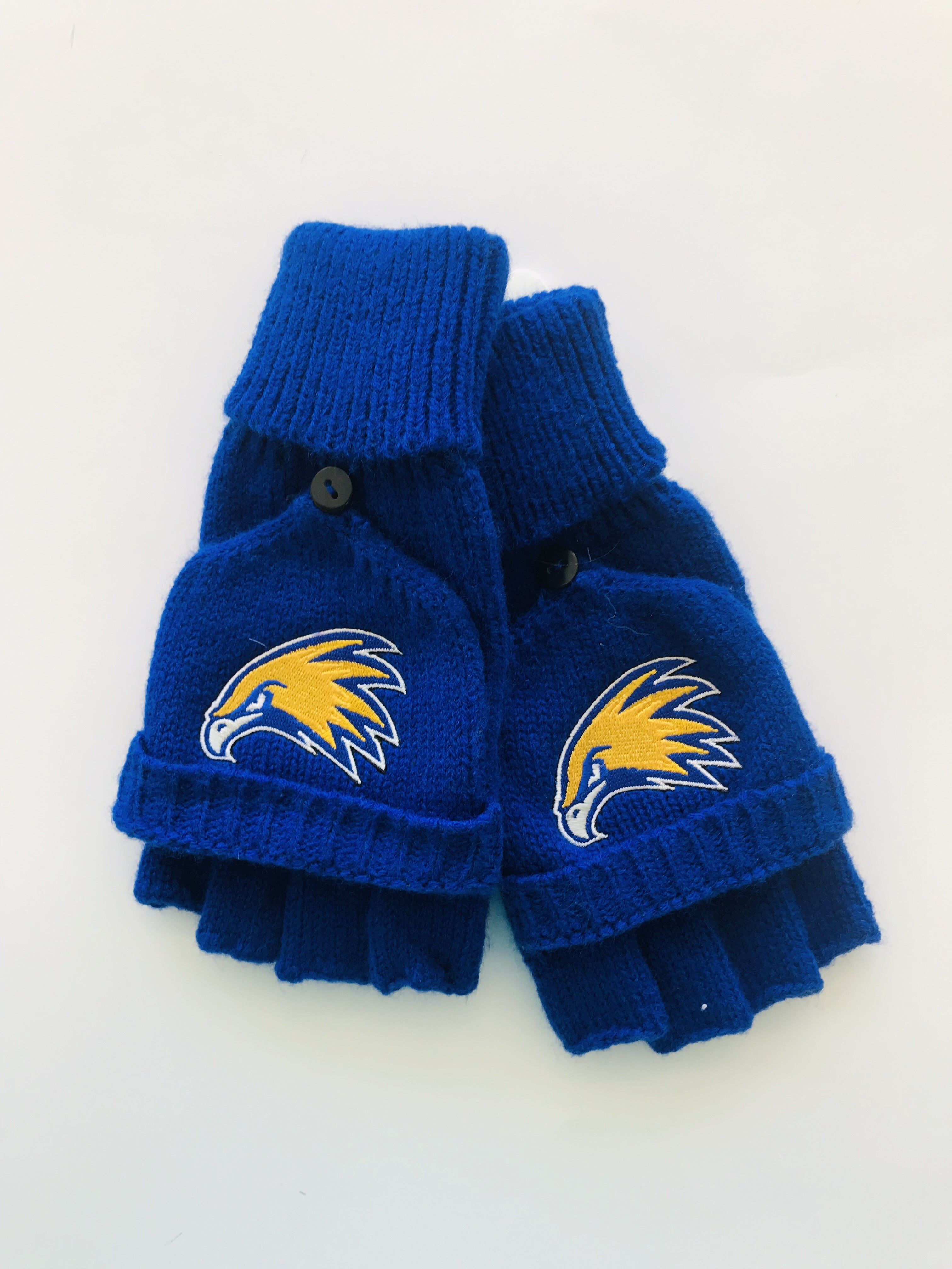 Golden Eagle Knit Flip-Top Mitten