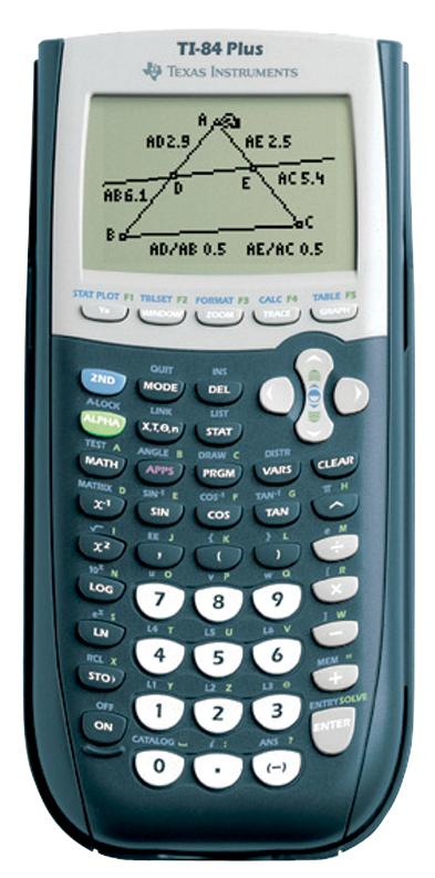 TI 84 Plus Graphing Calculator - Black 1Pk BP