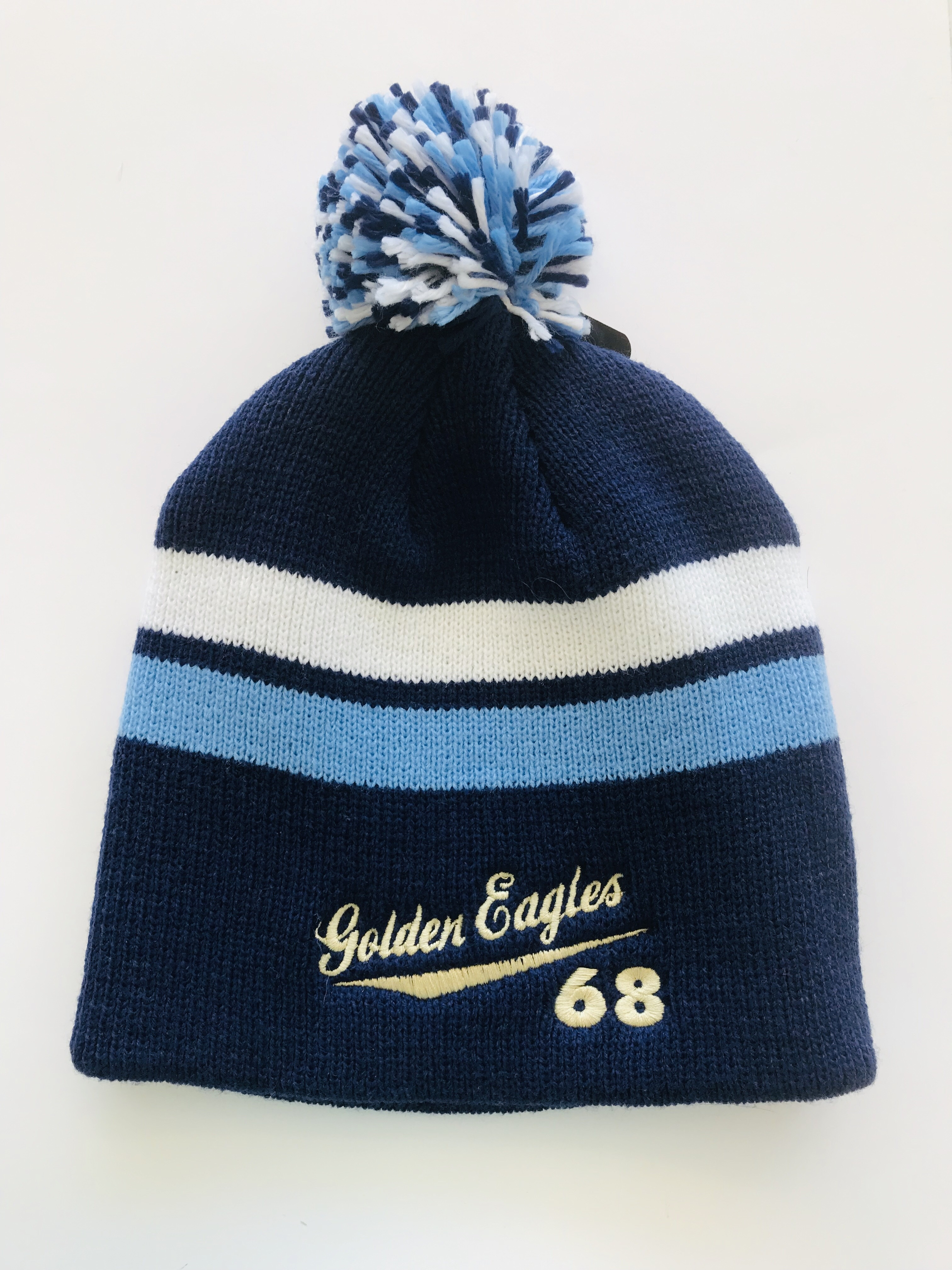 '68 Golden Eagles Pom Pom Beanie