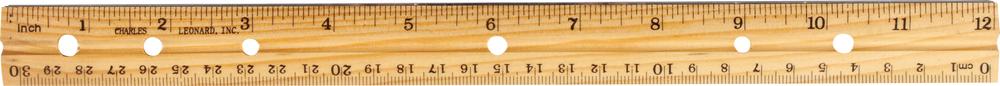 Charles Leonard Wood Ruler - Natural 12in Bulk