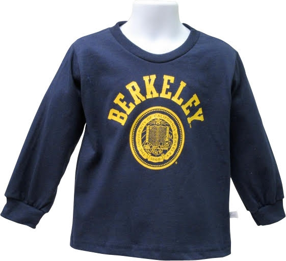 University of California Berkeley Long Sleeve Toddler Basic Tee Berkeley Seal