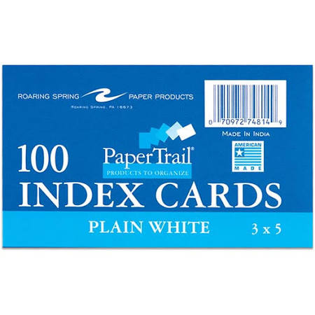 PaperTrail 100 Index Cards