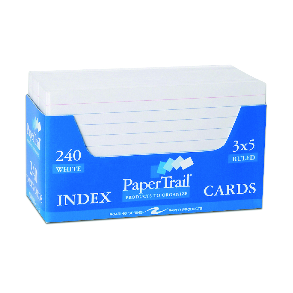 PaperTrail 240 3 x 5 index cards