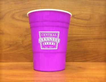 Plastic solo party cup purple