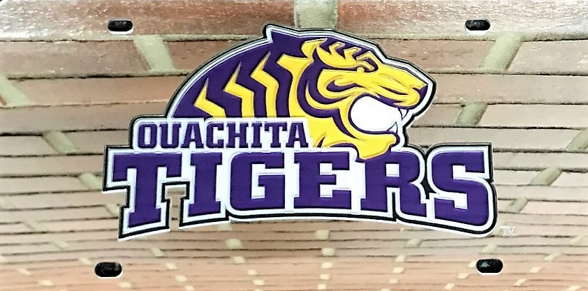 OUACHITA TIGERS MIRRORED LICENSE PLATE