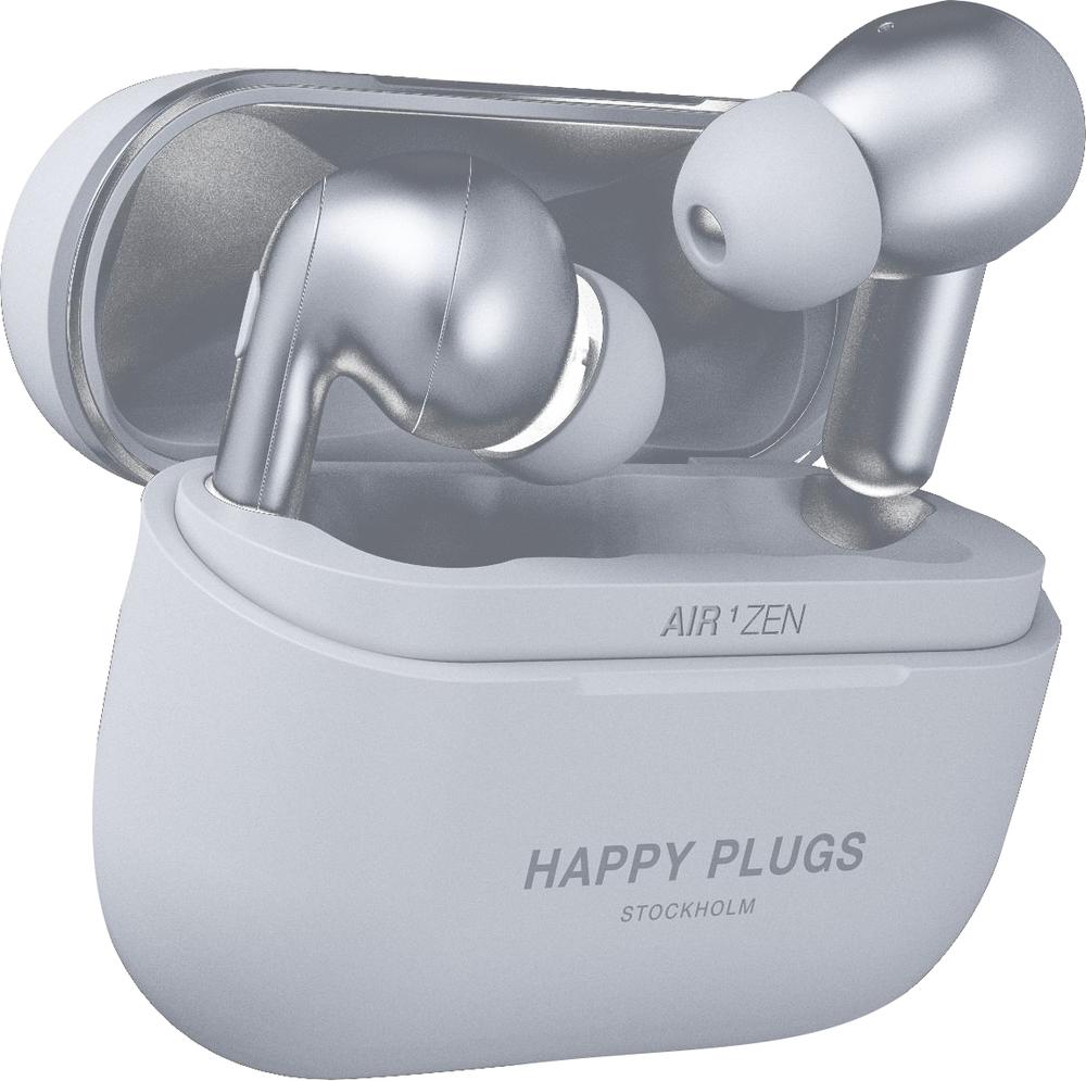 Happy Plugs Air 1 Zen True Wireless Earbuds - Silver BP