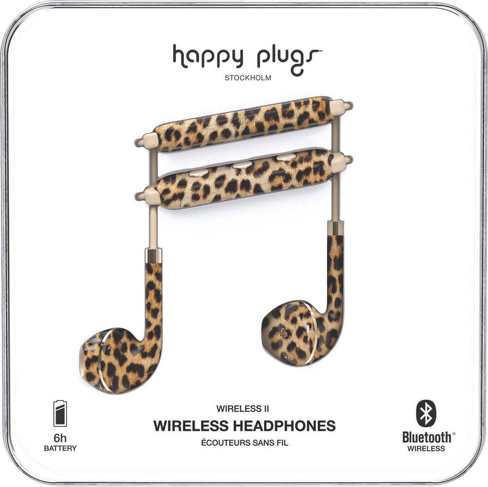 Happy Plugs Earbuds Plus Wireless II Earbuds - Leopard BP