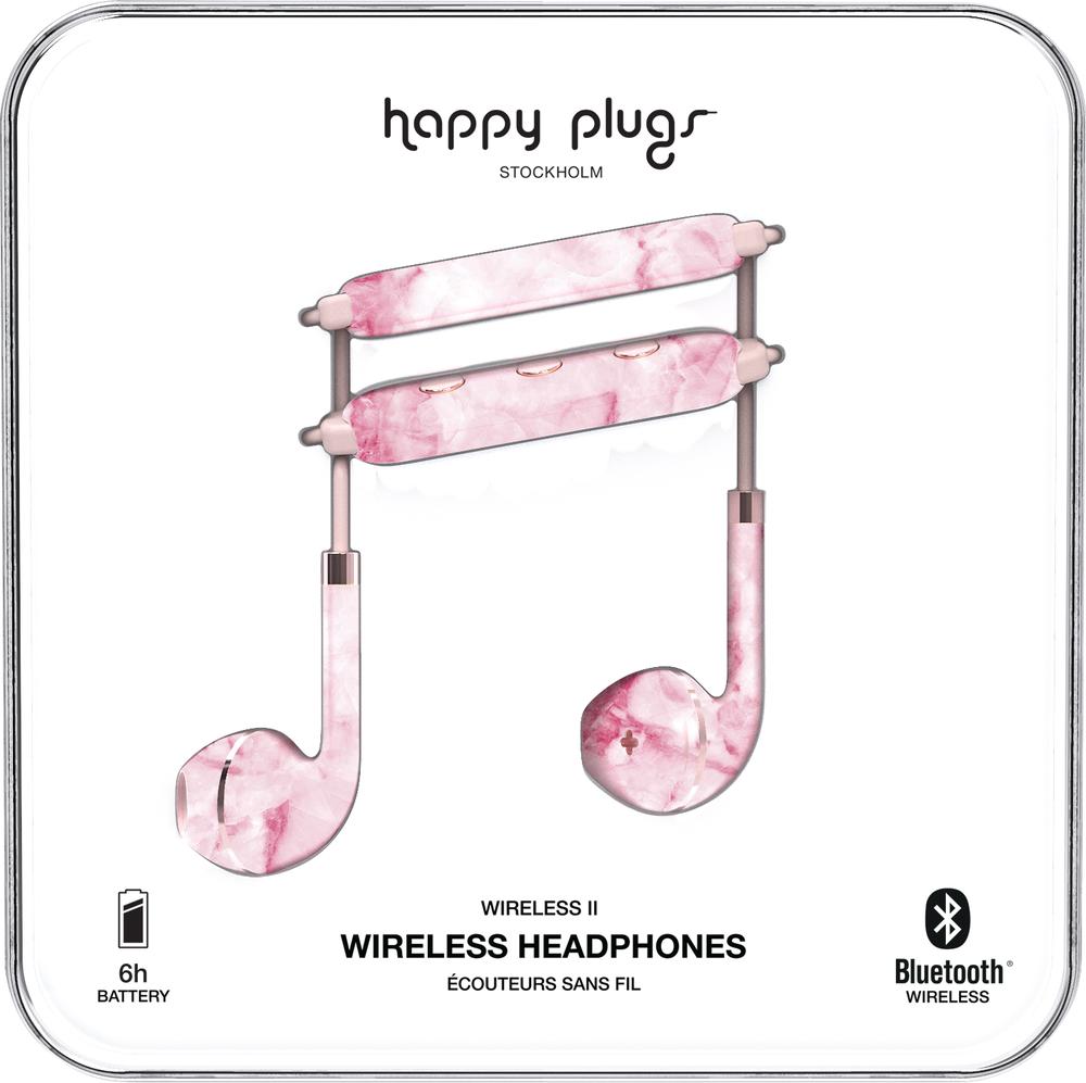 Happy Plugs Earbuds Plus Wireless II Earbuds - Pink Marble BP