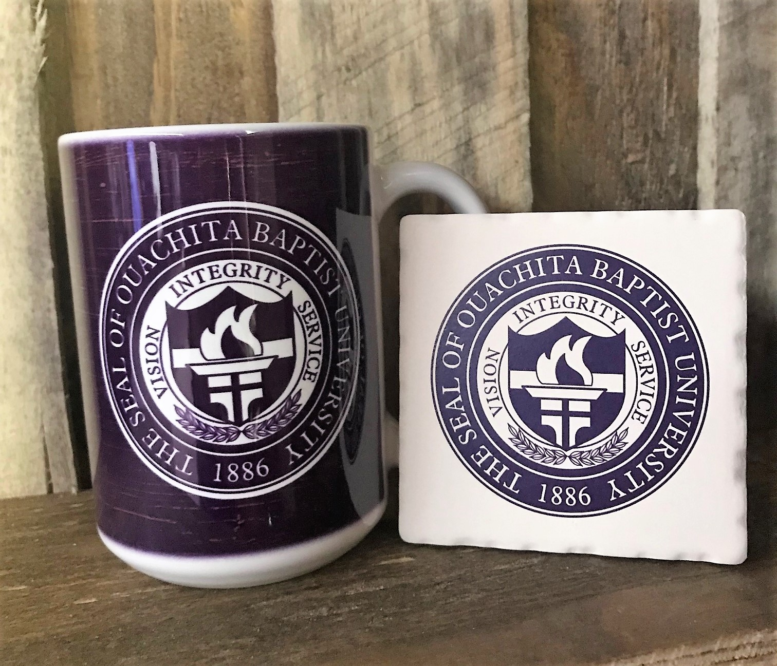 OUACHITA SEAL CERAMIC MUG & COASTER COMBO