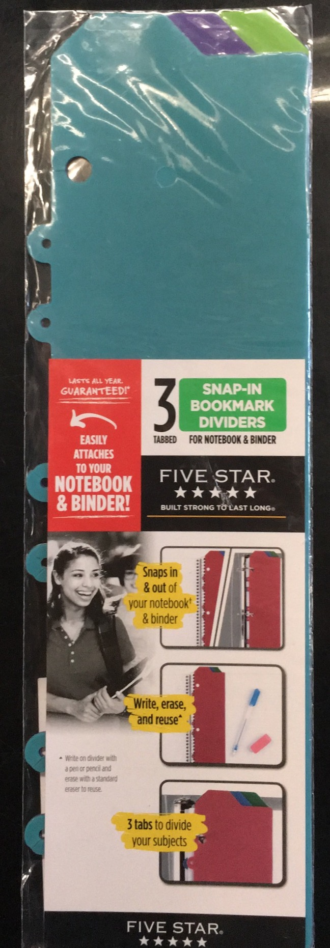 Snap-In Bookmark Dividers