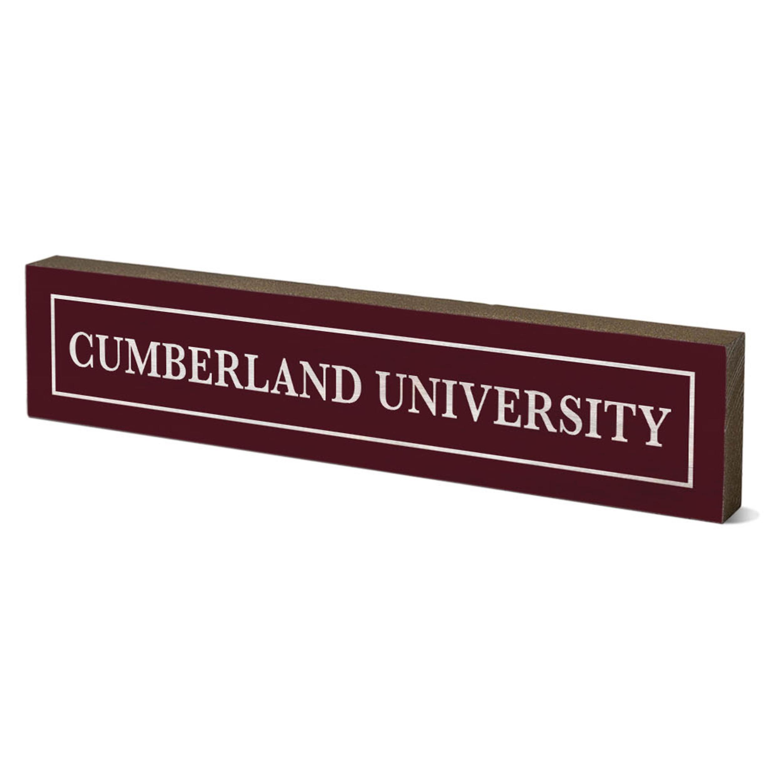 "Cumberland University Table Top Stick 2.5"" x 12"""