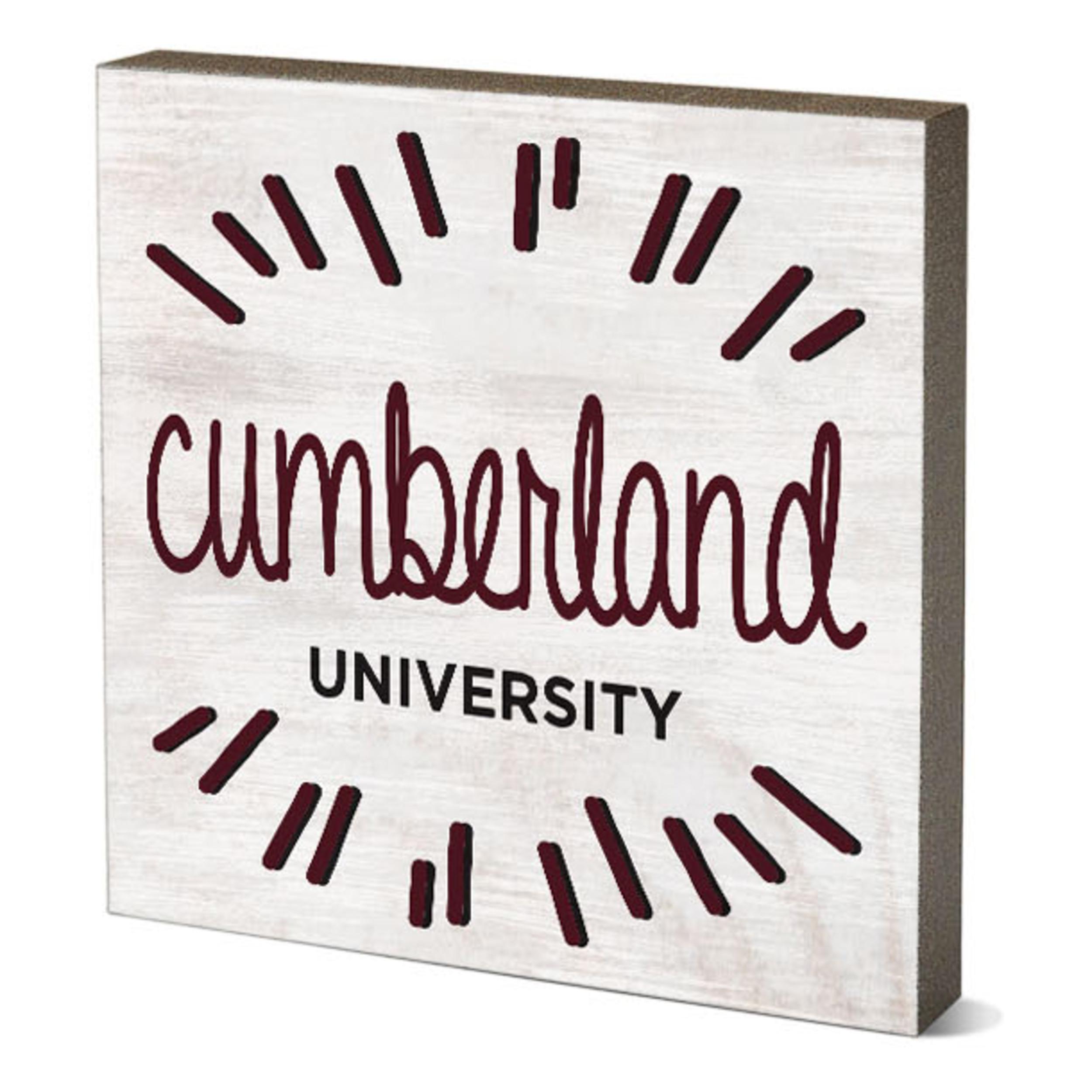 "Cumberland University Burst Table Top Square 5.5"" x 5.5"""