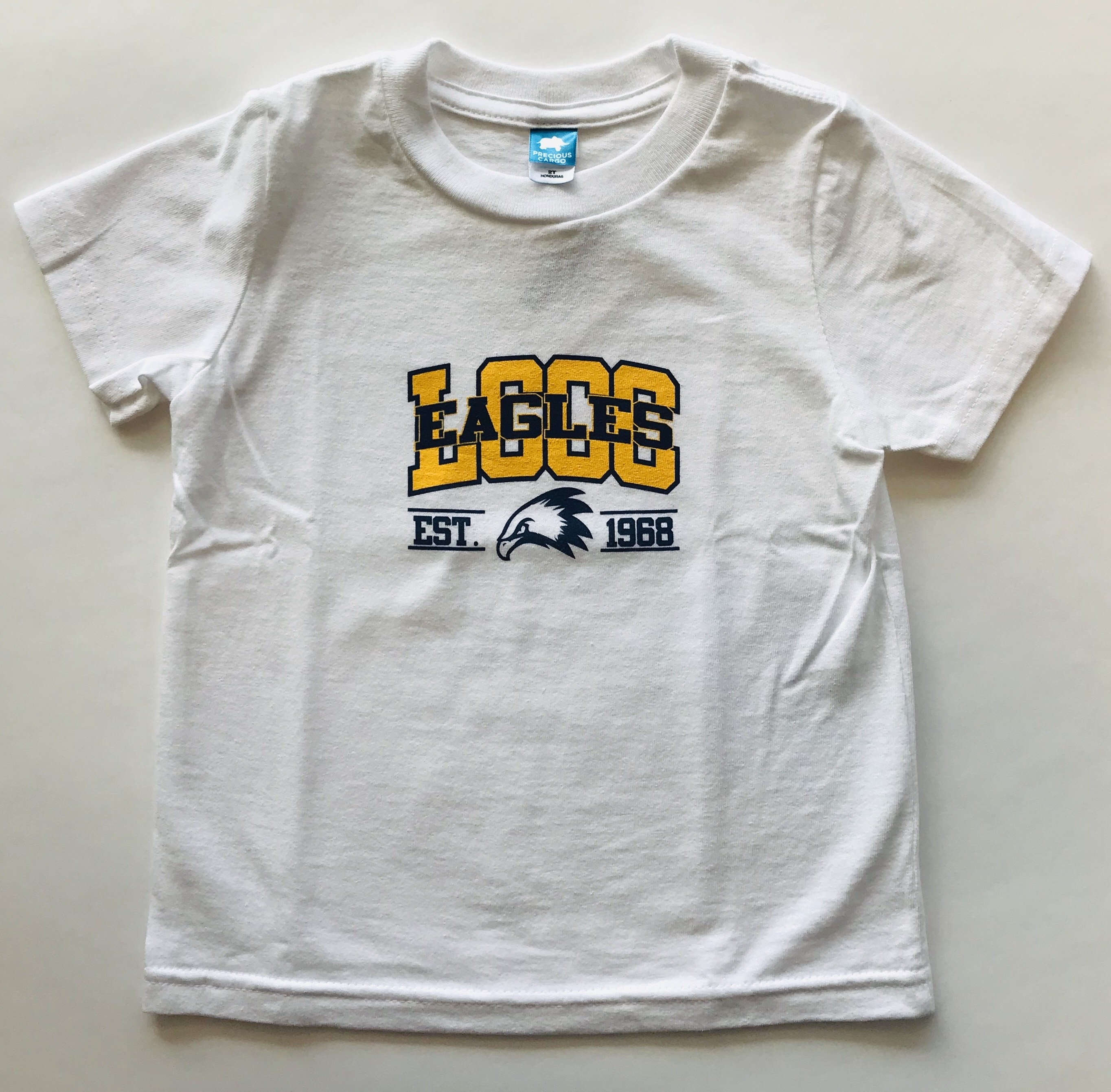LCCC Eagles Toddler's White T-Shirt