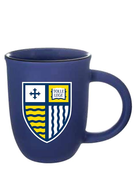 Blue Matte Shield Mug