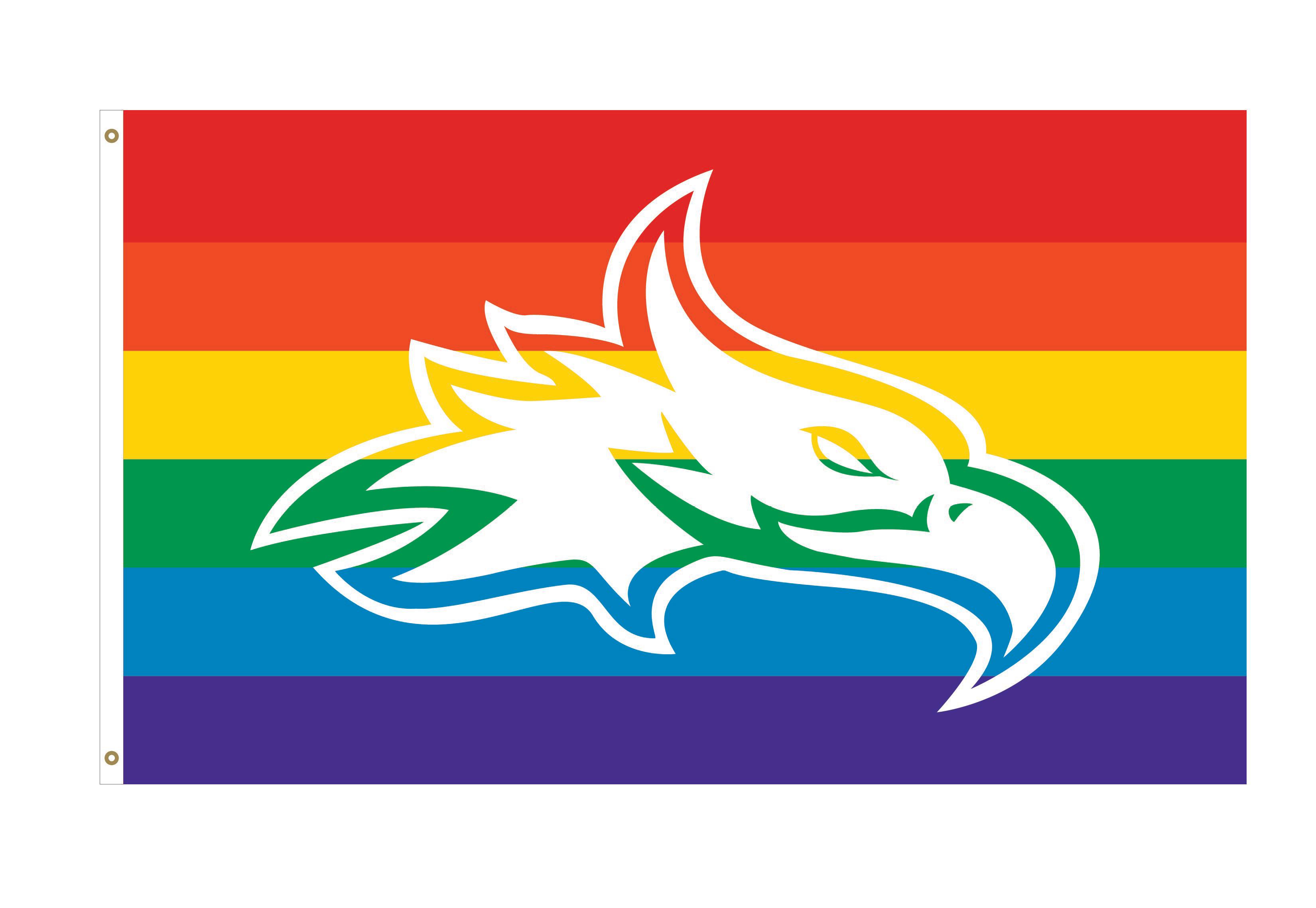 Phoenix Logo Pride Deluxe 3x5 Flag