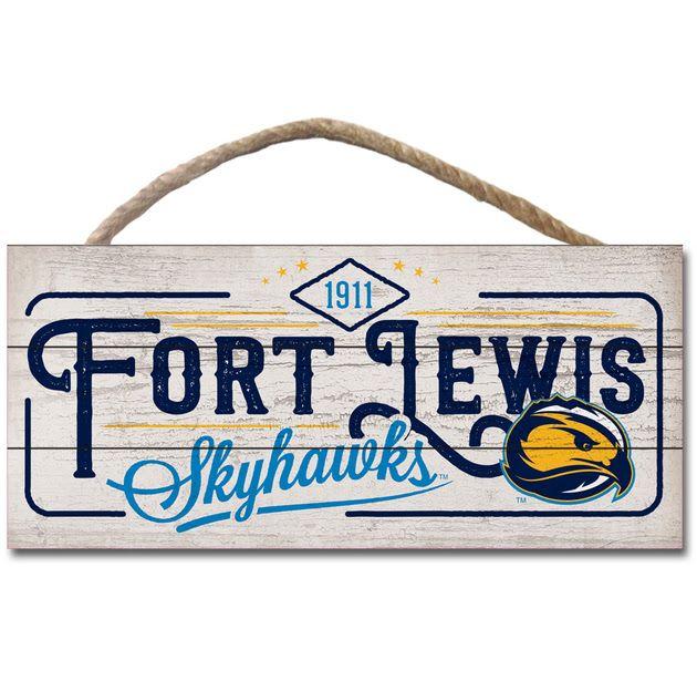 1911 Fort Lewis Skyhawks Plank Hanging Sign