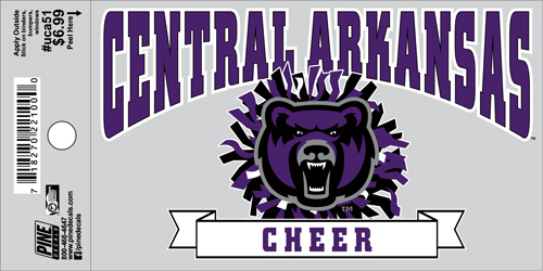 "3""x5"" Central Arkansas Cheer Decal"